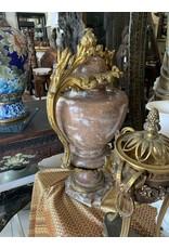 Marble with bronze trim vase (pair)