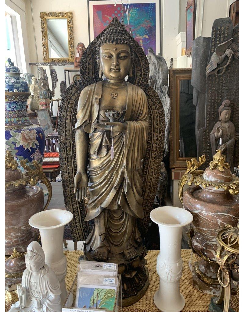 Bronze Buddha with ora