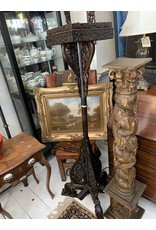 Tall Wooden Lamps (Pair)(As Is)