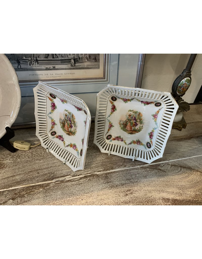 Hand Painted Dishes (Pair)