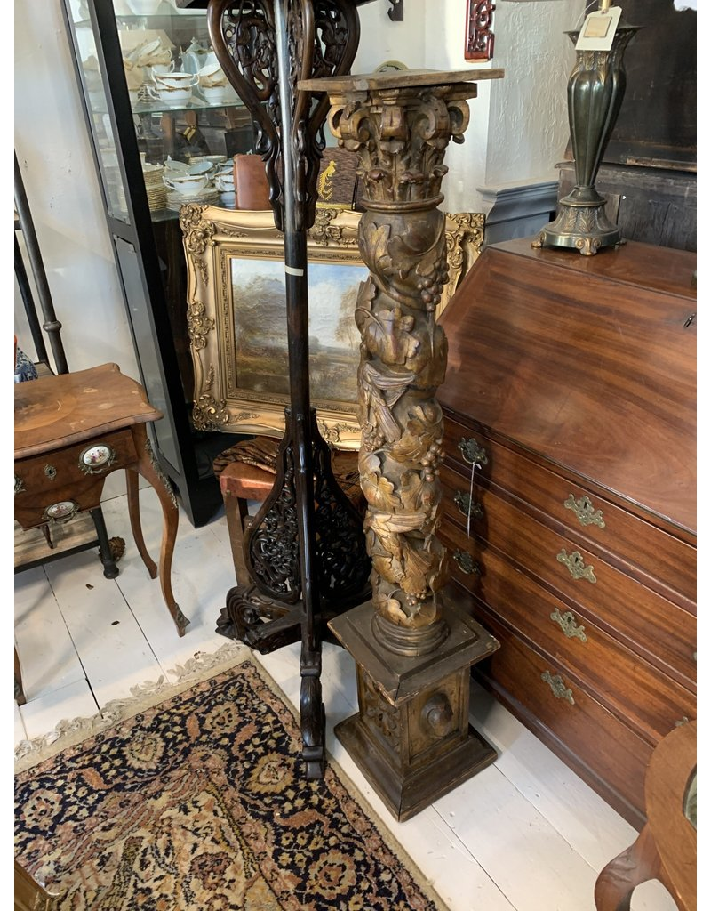 Gilt Wood Pedestal