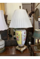 Bronze/Marble/Porcelain Hand Painted Lamp