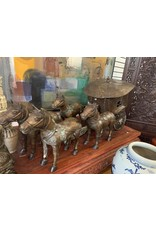 Chinese Bronze Horse Chariot (8 Pieces)