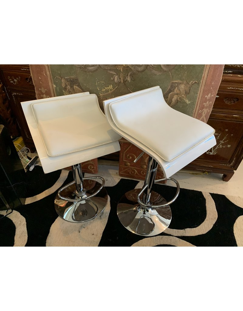 White/Chrome Base Bar Stools (325 Each)