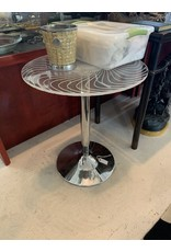 Lucite/Chrome Base Table