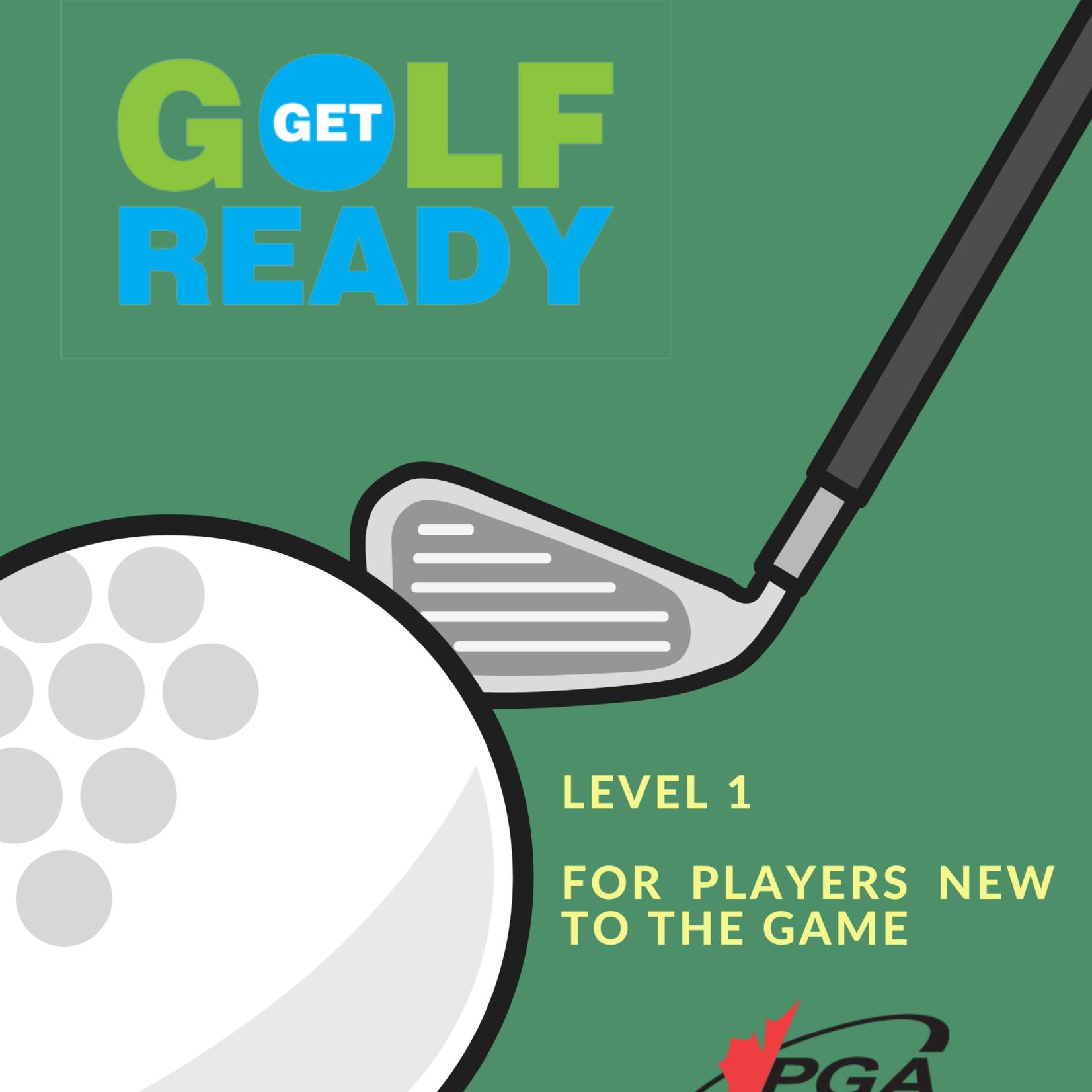 2021 Get Golf Ready Level 1 Tue/Thu June 8,10,15,19 7:00-8:00pm