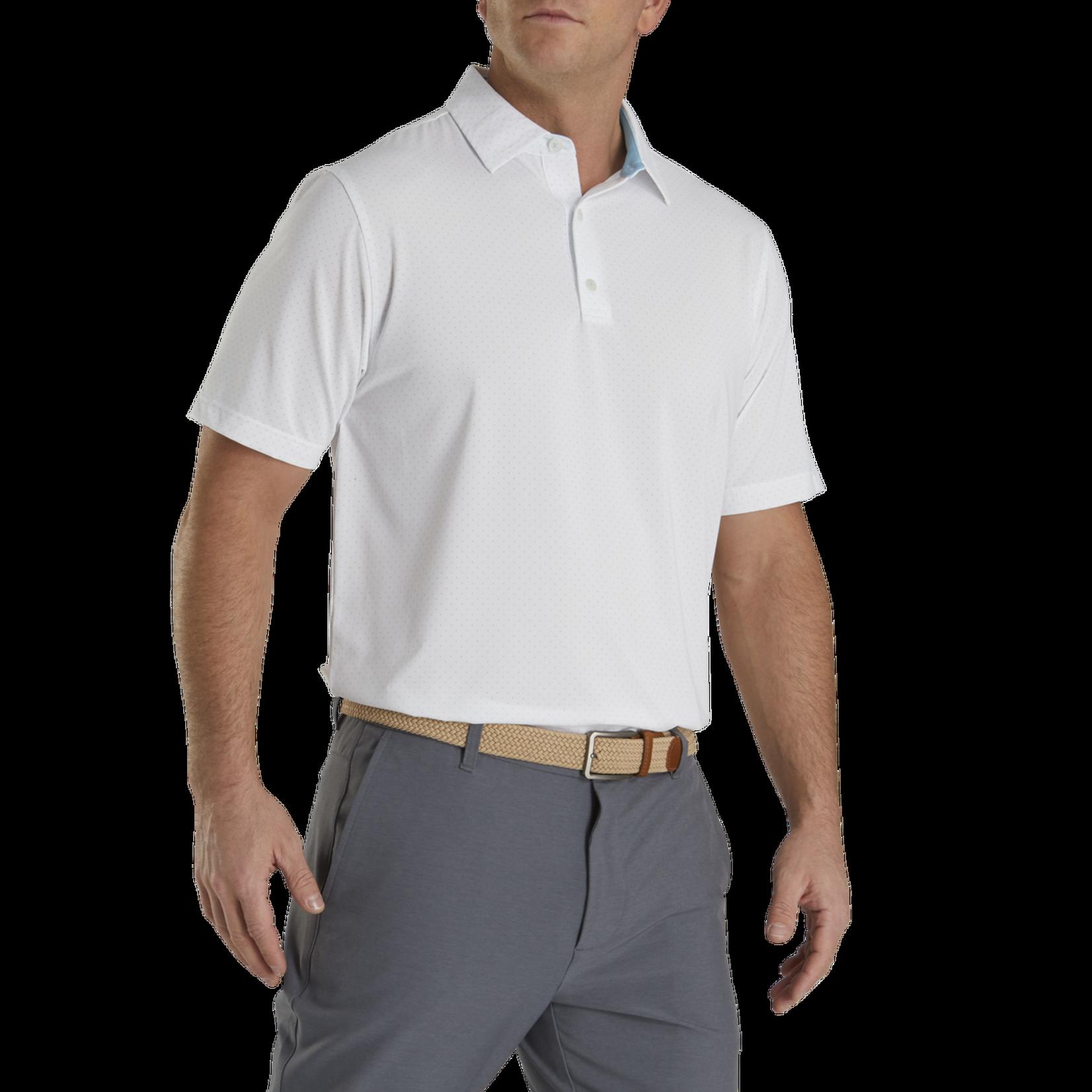 Footjoy FJ Stretch Lsl Dot Print Self Collar Polo '21