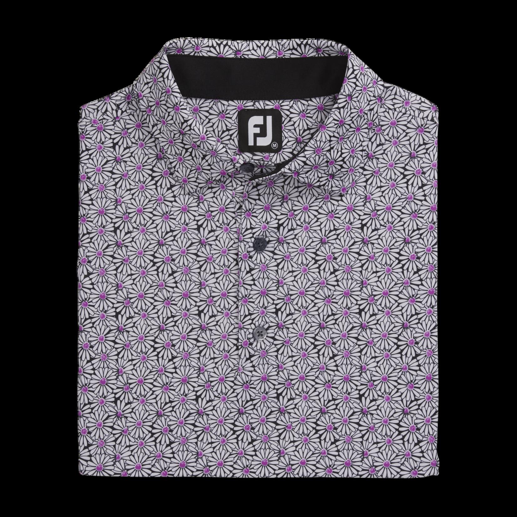 Footjoy FJ Lsl Daisy Print Self Collar Polo '21