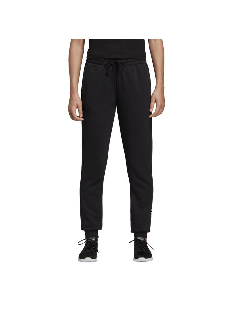53de42be4005 Adidas Essentials Linear Pants Sweatpants Joggers- BLACK WHITE - Culture  Athletics