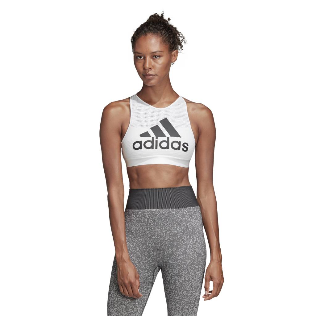 dfaec3eb1df HALTER 2.0 LOGO ADIDAS - WHITE Cultures Athletic Sports Bra - Culture  Athletics