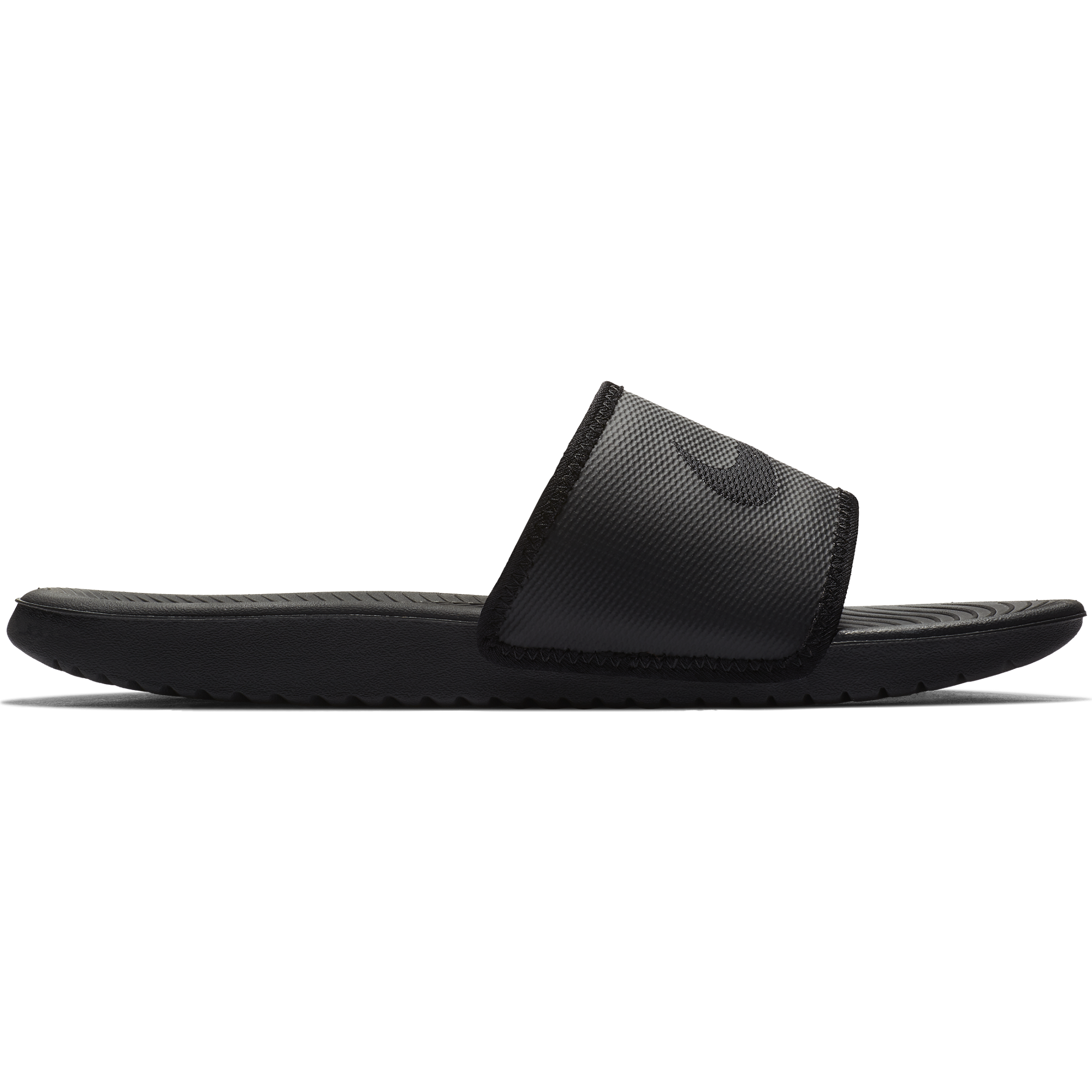 d97012697 Mens Nike Kawa Adjustable Slide Sandal - BLK BLK - Culture Athletics