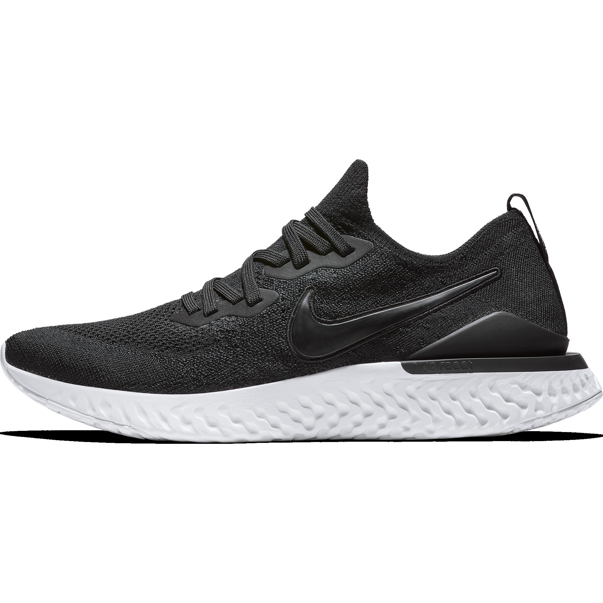 f680b329980b9 Nike Epic React Flyknit 2 - BLK WHT - Culture Athletics