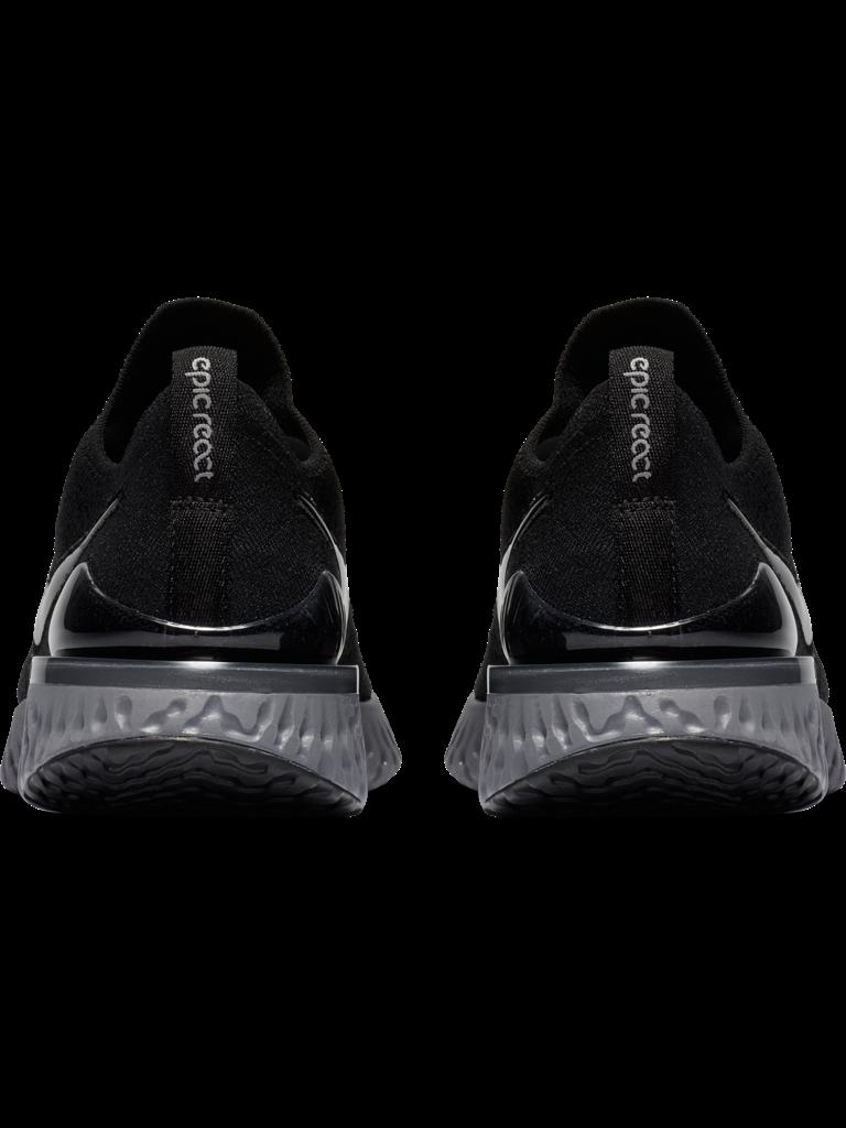 9b7b85903c3d W Nike Epic React Flyknit 2 - BLK WHT GSMOKE - Culture Athletics