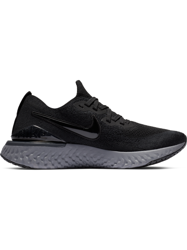 37c0be412469e W Nike Epic React Flyknit 2 - BLK WHT GSMOKE - Culture Athletics