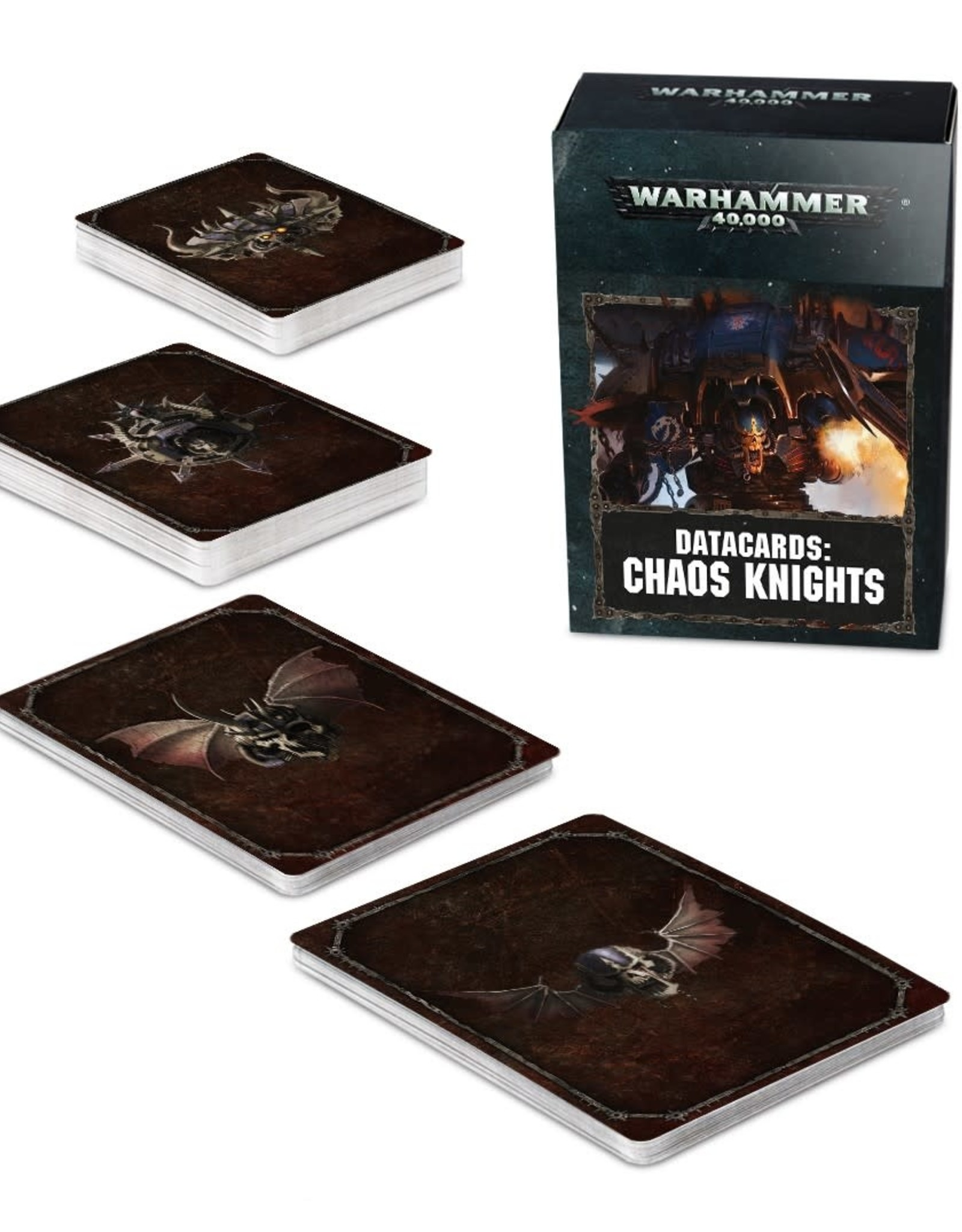 Games Workshop Warhammer 40,000 Datacards:  Chaos Knights (ENGLISH)