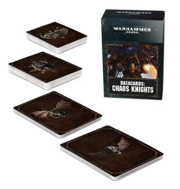 Games Workshop WH40K Datacards:  Chaos Knights