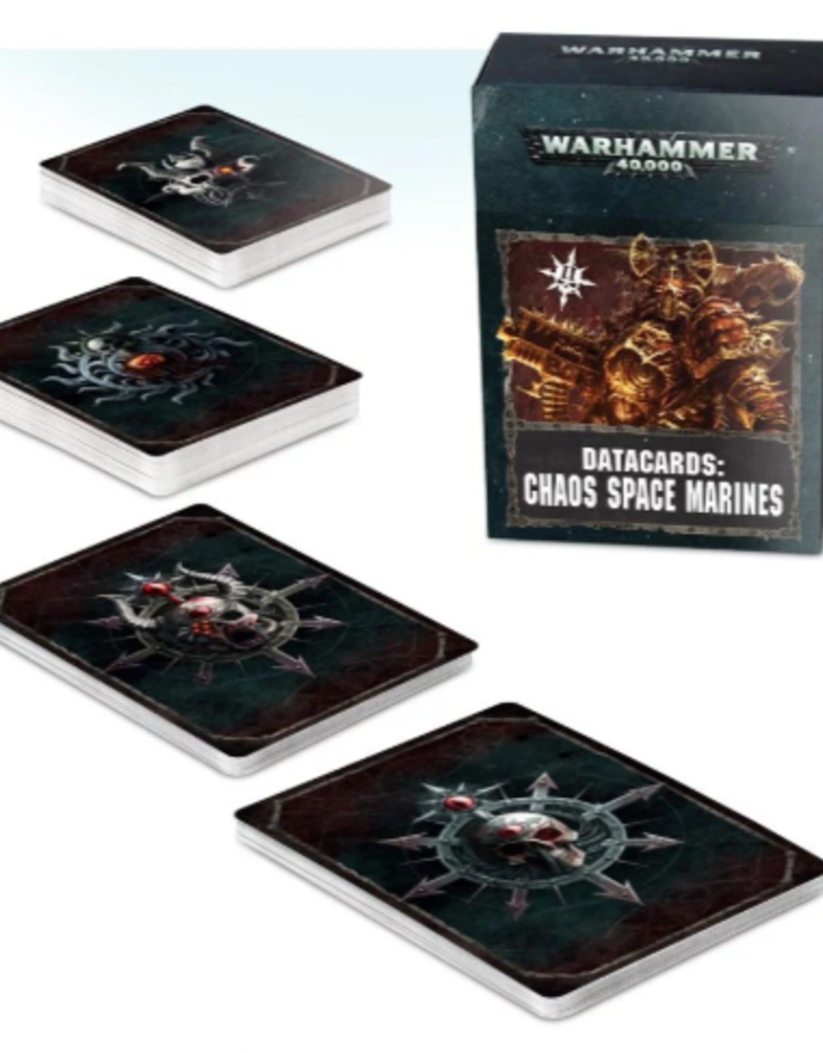 Games Workshop Warhammer 40,000 Datacards:  Chaos Space Marines 2 (ENGLISH)