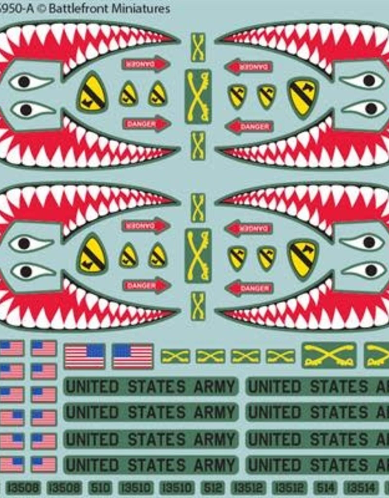 Battlefront Miniatures Ltd Team Yankee - WWIII   American Decal Set