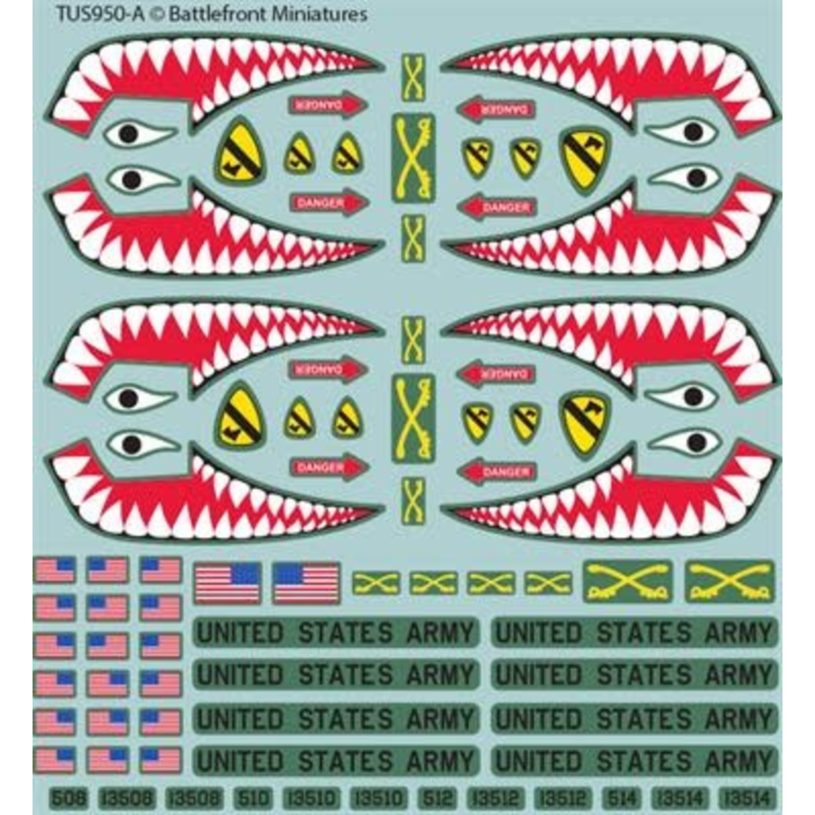 Battlefront Miniatures Ltd Team Yankee - WWIII | American Decal Set