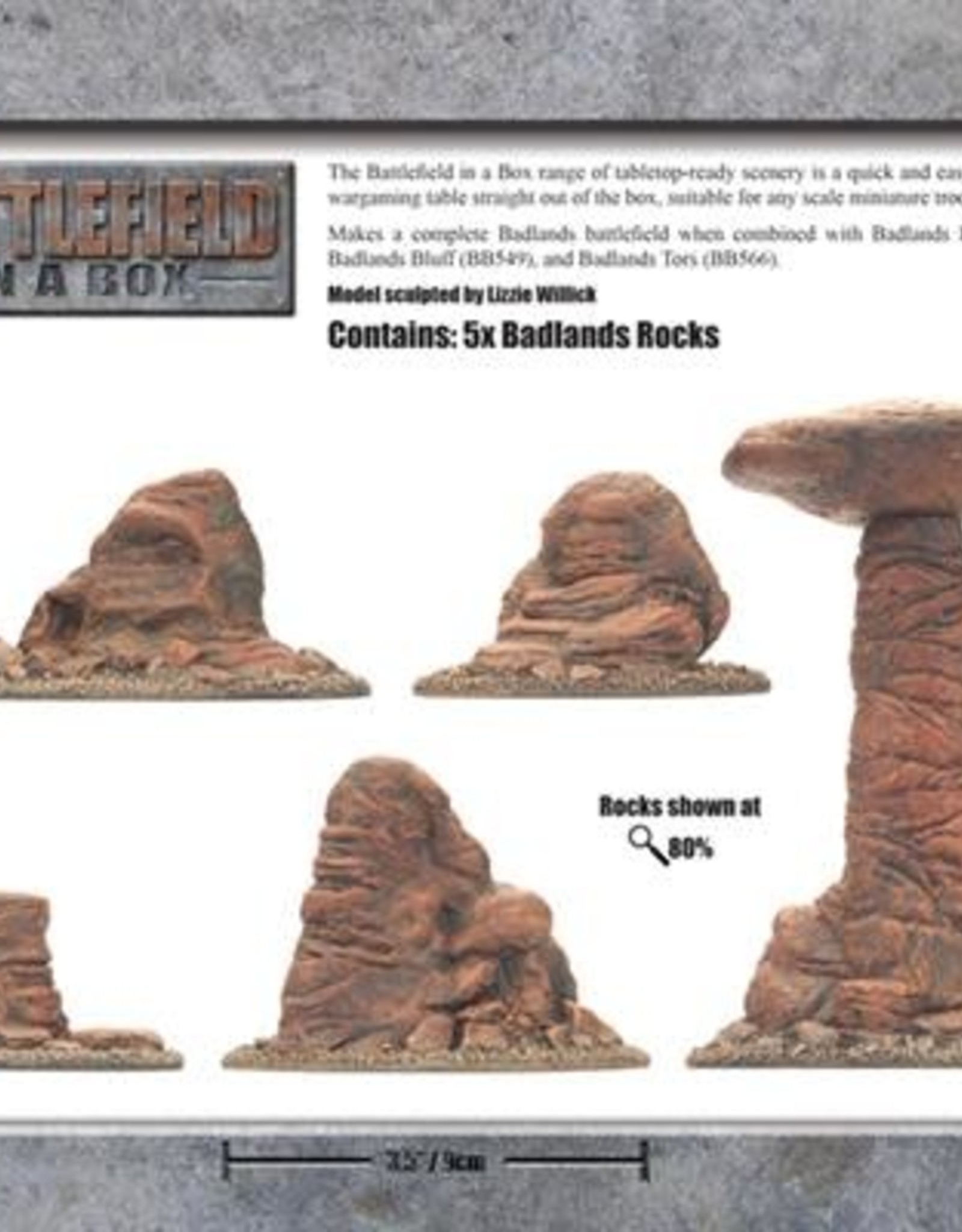 Gale Force Nine Badlands Pillars - Mars 30mm