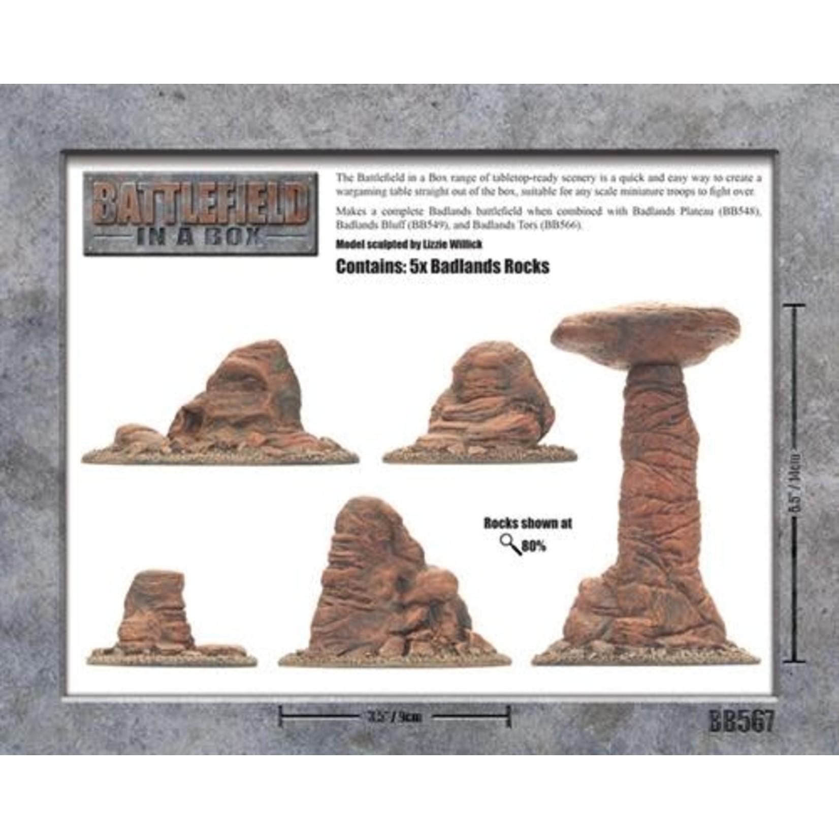 Gale Force Nine Badlands Pillars - Mars 30mm