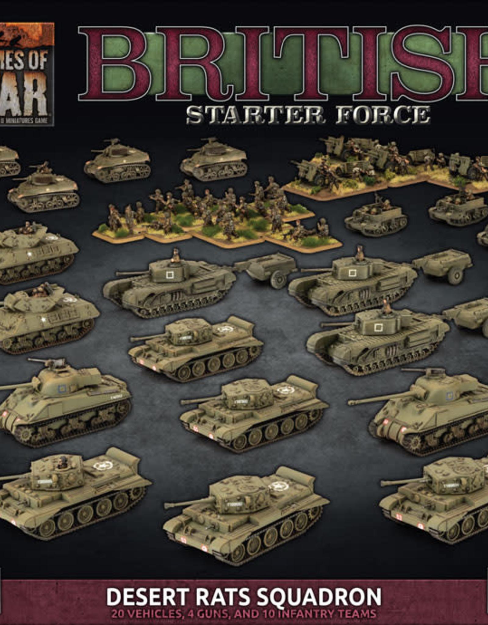 Battlefront Miniatures Ltd Flames of War | British Starter Force: Desert Rats Squadron
