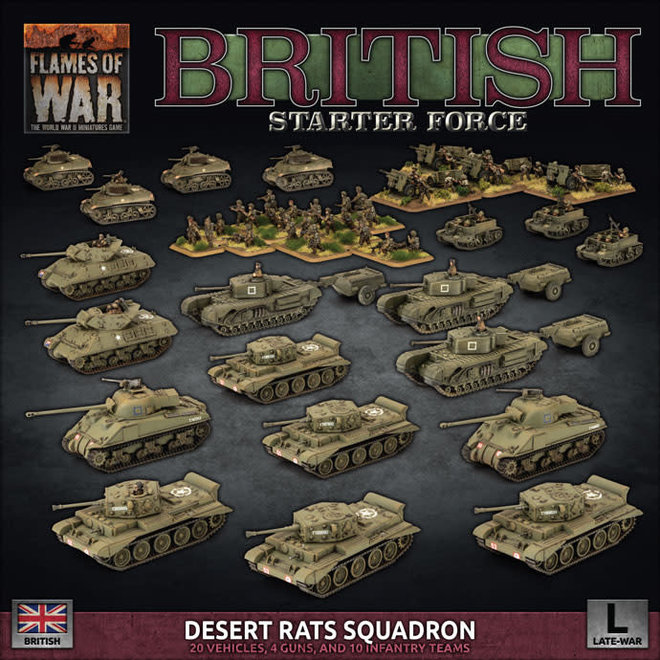 Flames of War | British Starter Force: Desert Rats Squadron