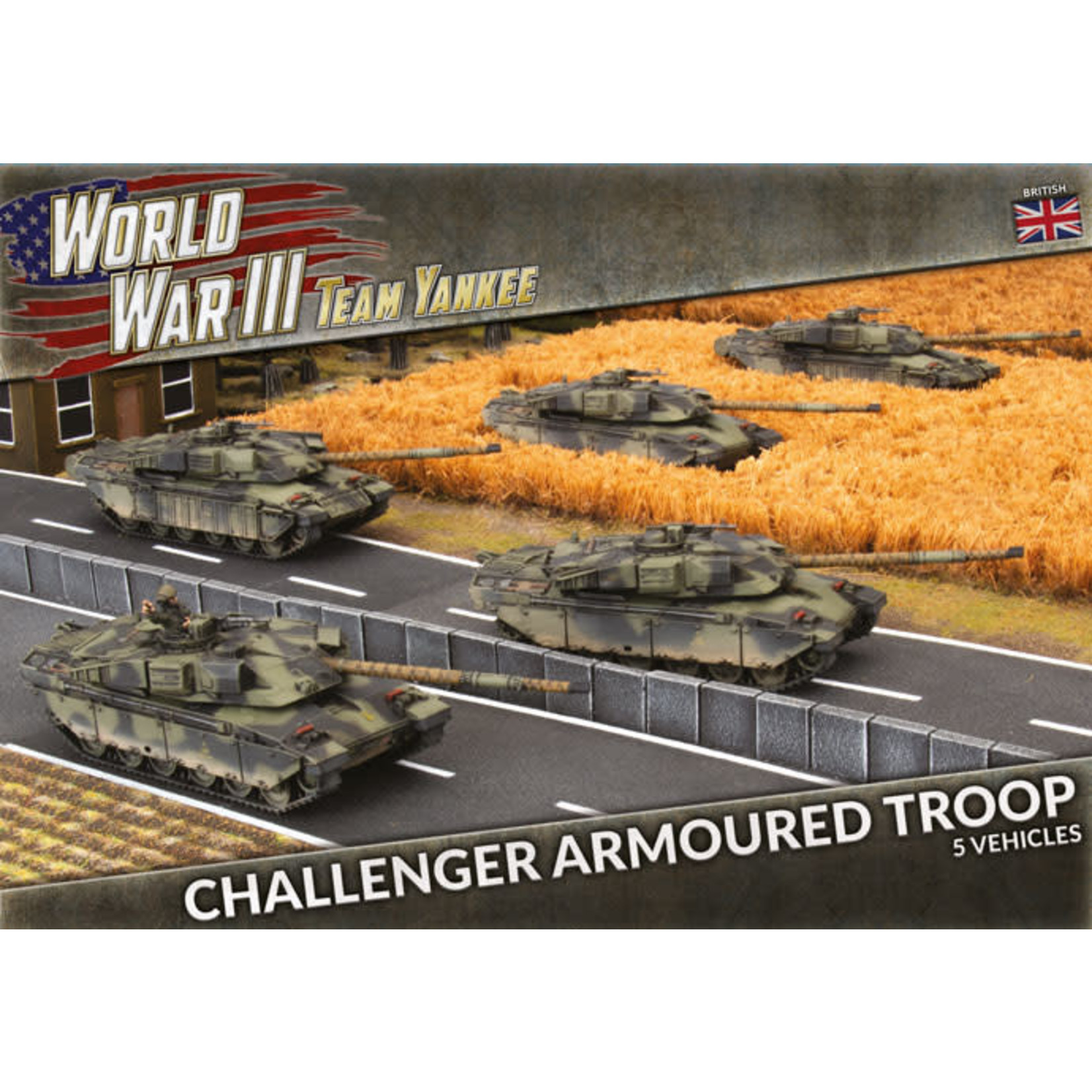 Battlefront Miniatures Ltd Team Yankee - World War III   Challenger Armoured Troop