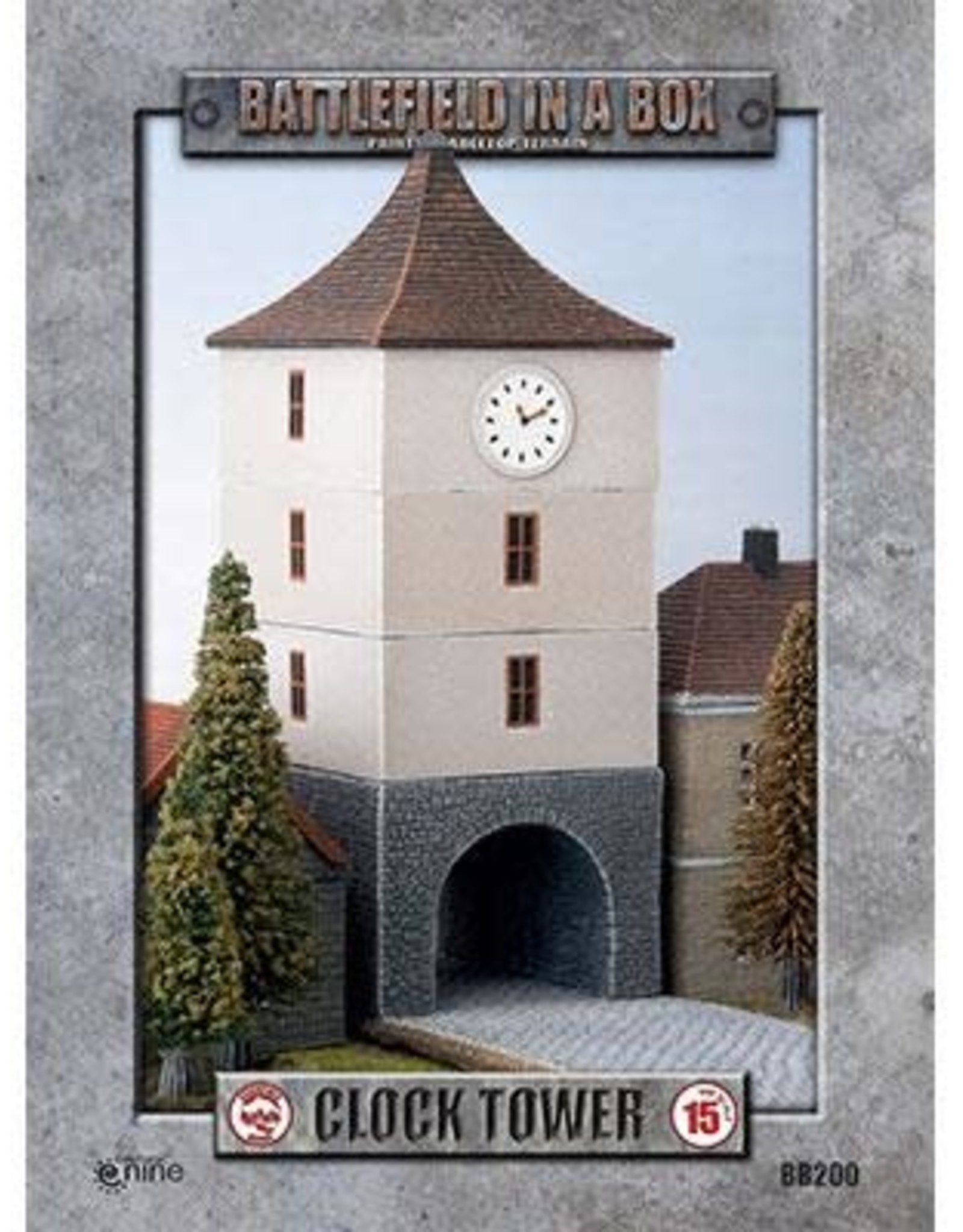 Gale Force Nine Clock Tower - WWII 15mm