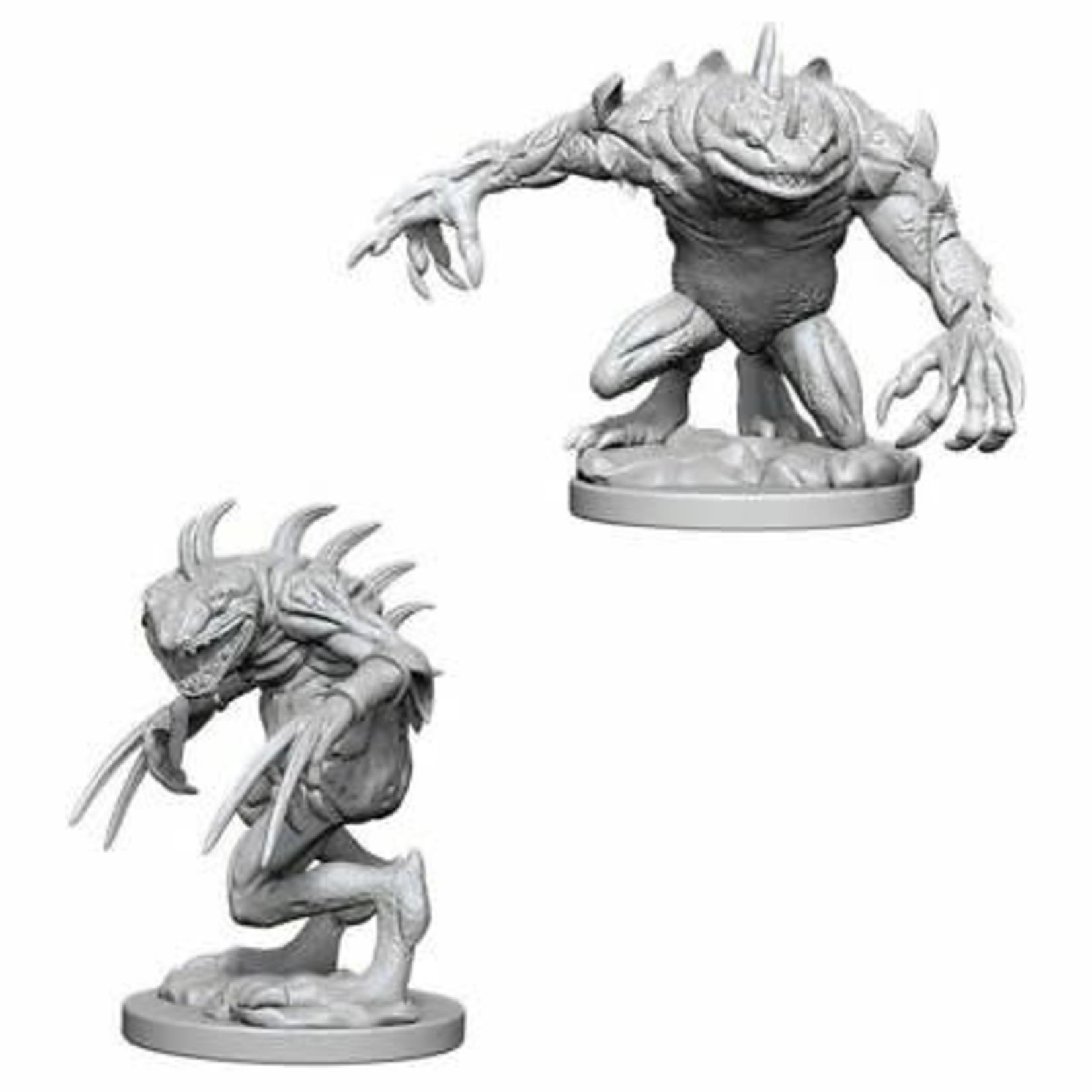 WizKids Dungeons & Dragons Nolzur's Marvelous Miniatures: Grey Slaad & Death Slaad