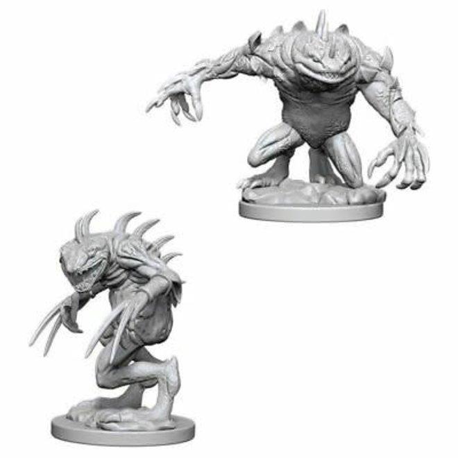 Dungeons & Dragons Nolzur's Marvelous Miniatures: Grey Slaad & Death Slaad