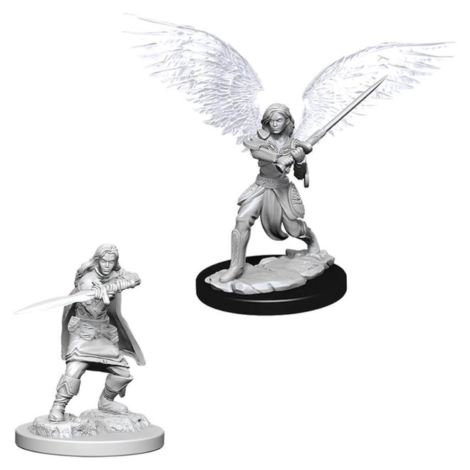 D&D NM: Female Aasimar Fighter