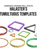 WizKids Dungeons & Dragons Icons of the Realm: Spell Effects Halaster's Tumultuous Templates
