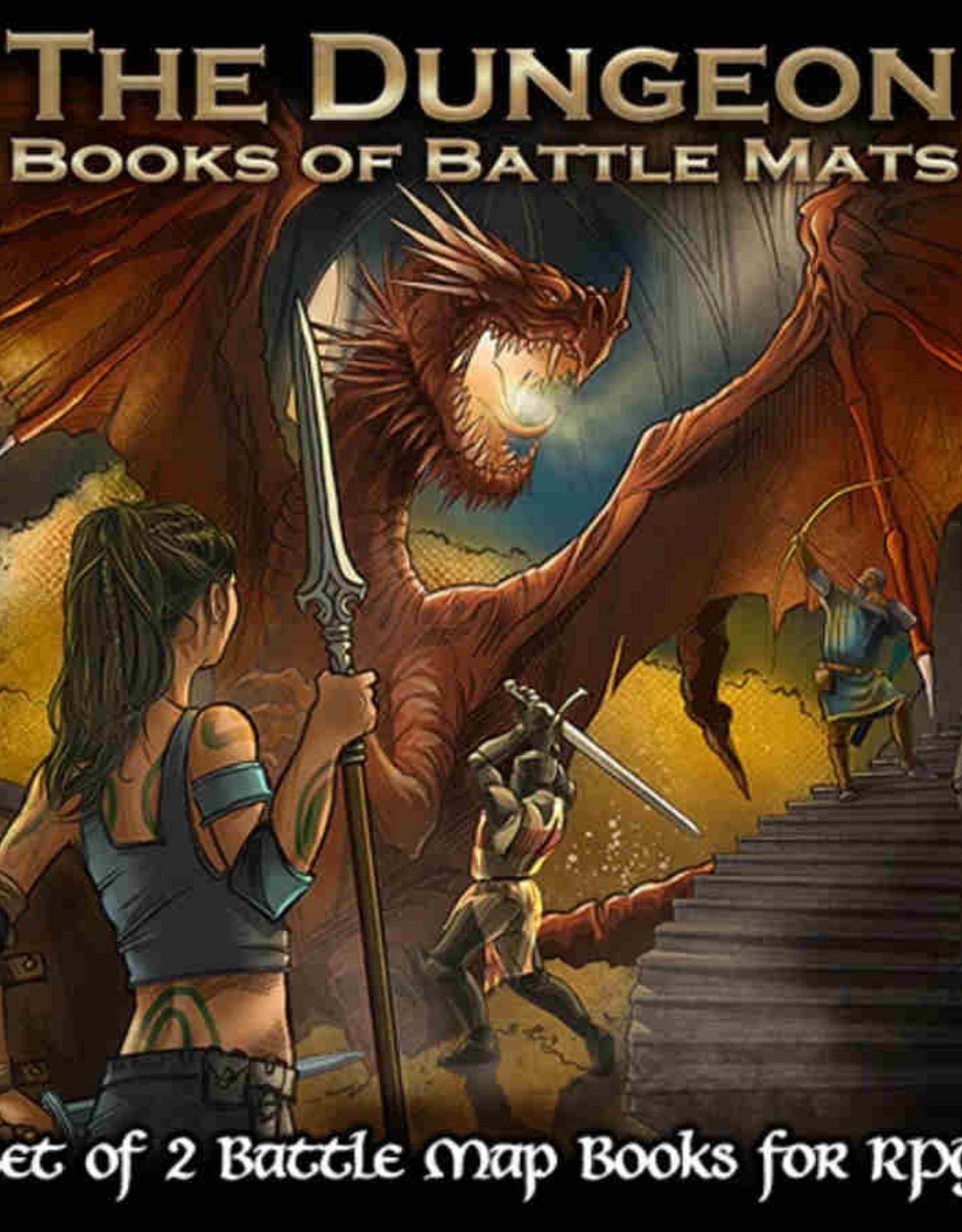 Loke Battlemats Dungeon Book of Battle Mats
