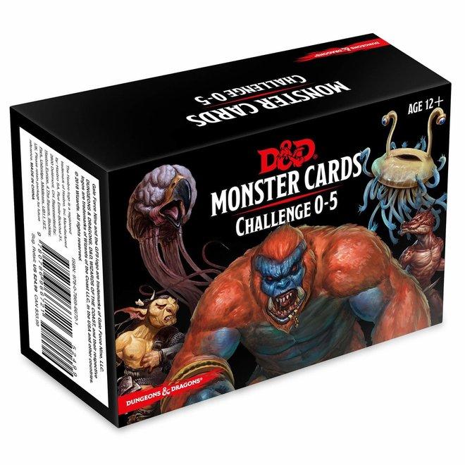 D&D: 5E Monster Cards - Challenge 0-5 Deck