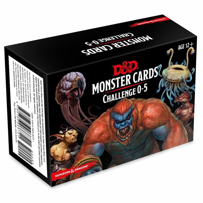 Dungeons & Dragons: 5th Edition Monster Cards - Challenge 0-5 Deck