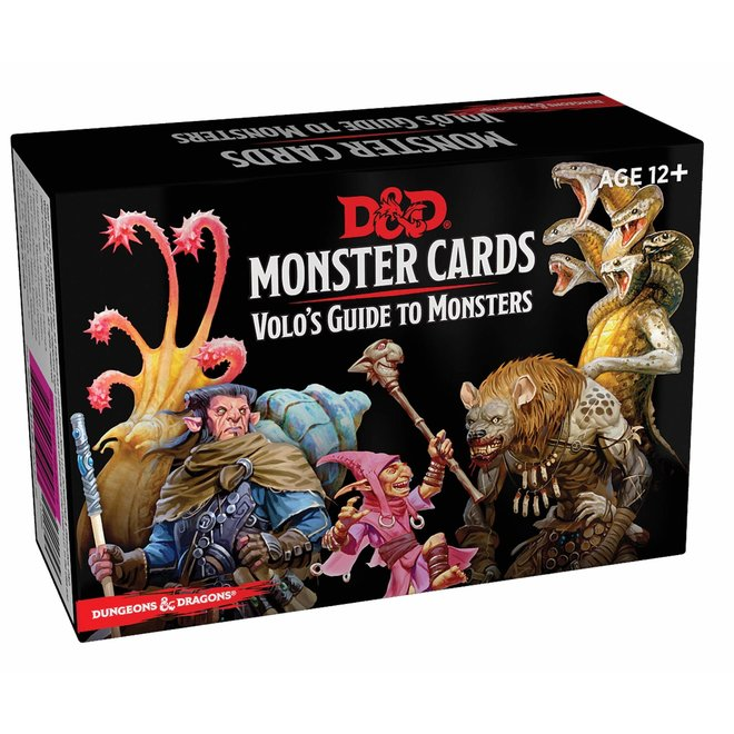 Dungeons & Dragons: 5th Edition Monster Cards - Volo`s Guide to Monsters