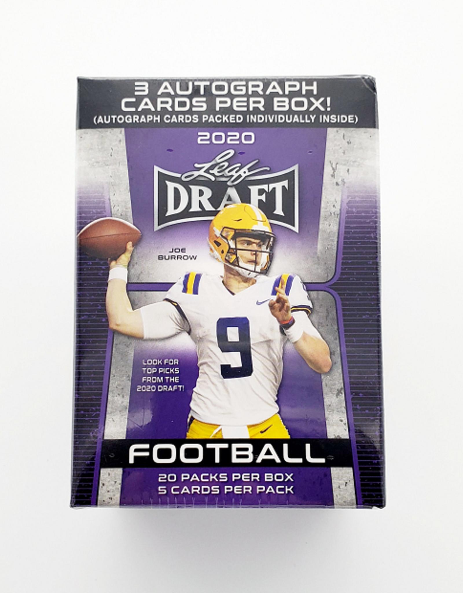 Leaf Trading Cards 2020 Leaf Draft Football - Hobby - Blaster