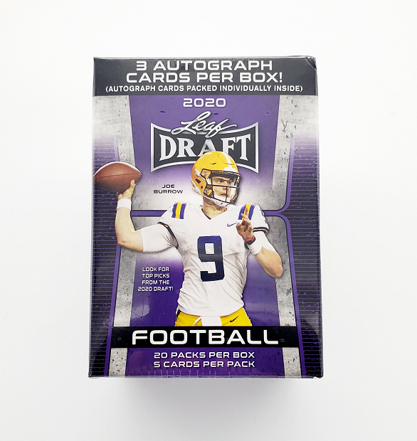Lot of Twenty Unopened Five-Card Packs of 2020 Leaf Draft Football Cards