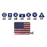 Battlefront Miniatures Ltd FoW | American Token Set