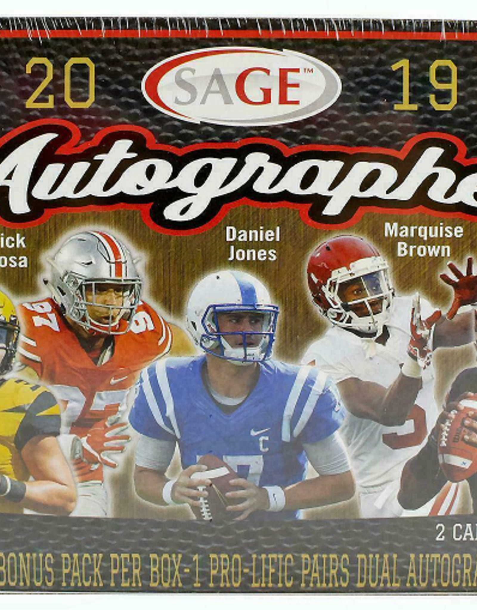 SAGE Collectibles 2019 SAGE Autographed Football Sealed Box