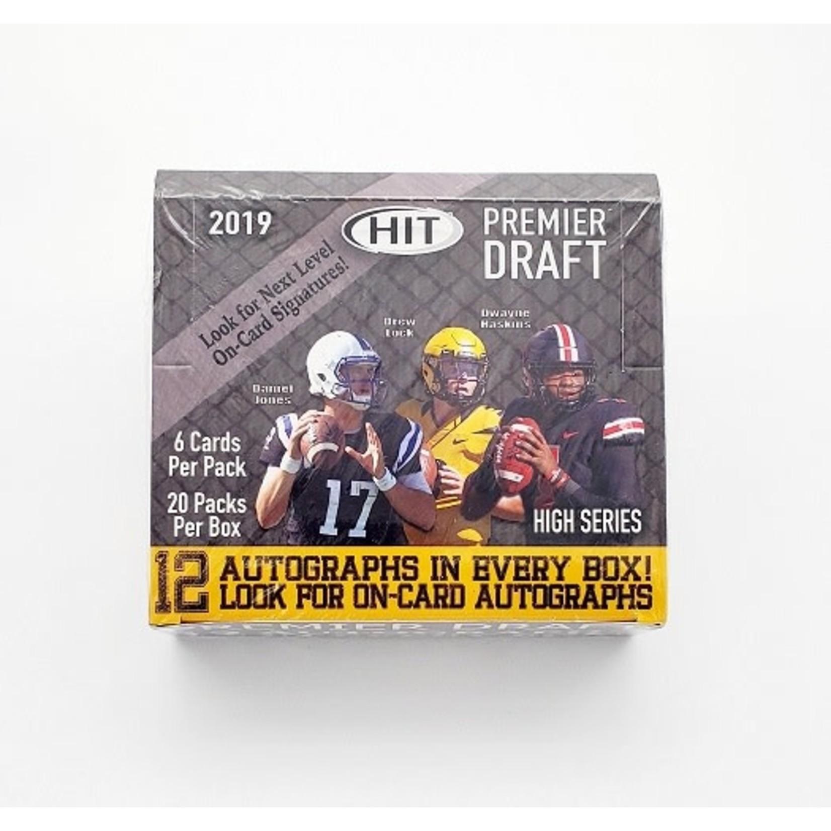 SAGE Collectibles 2019 SAGE Hit Football Premier Draft High Series Hobby Box