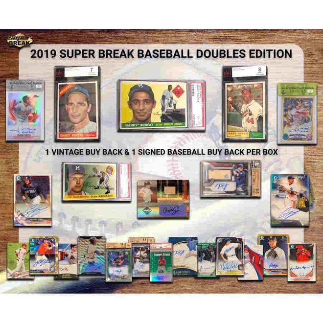 2019 Super Break Baseball Super Doubles Edition Hobby Box