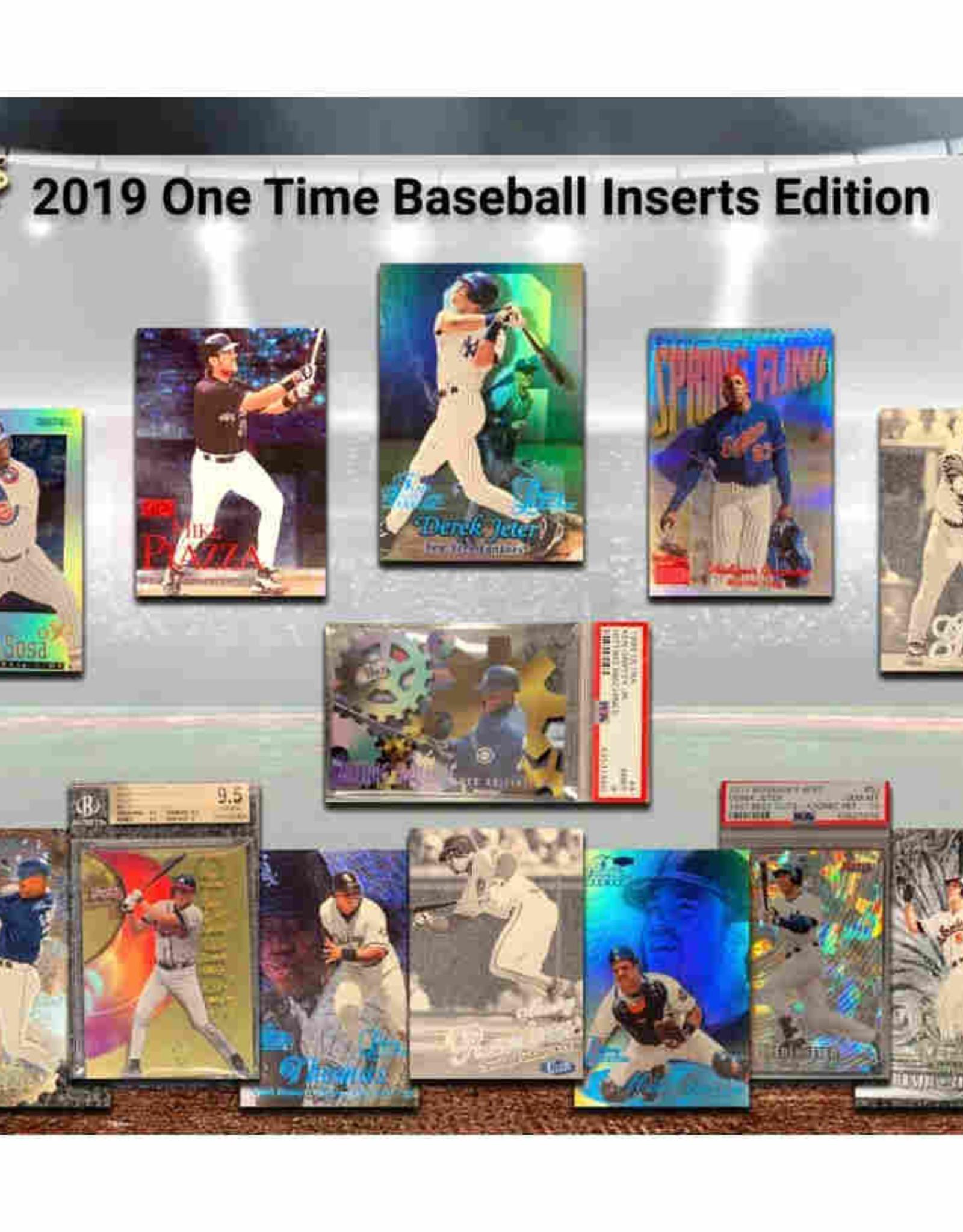 Super Break 2019 Super Break One Time Baseball Inserts Edition