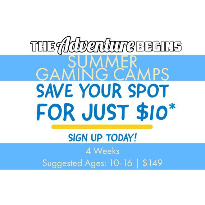 Summer Camp Deposit - The Adventure Begins Gaming Camps