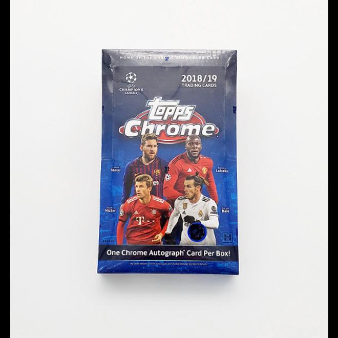 2018-19 Topps Chrome UEFA Champions League Soccer Hobby Box