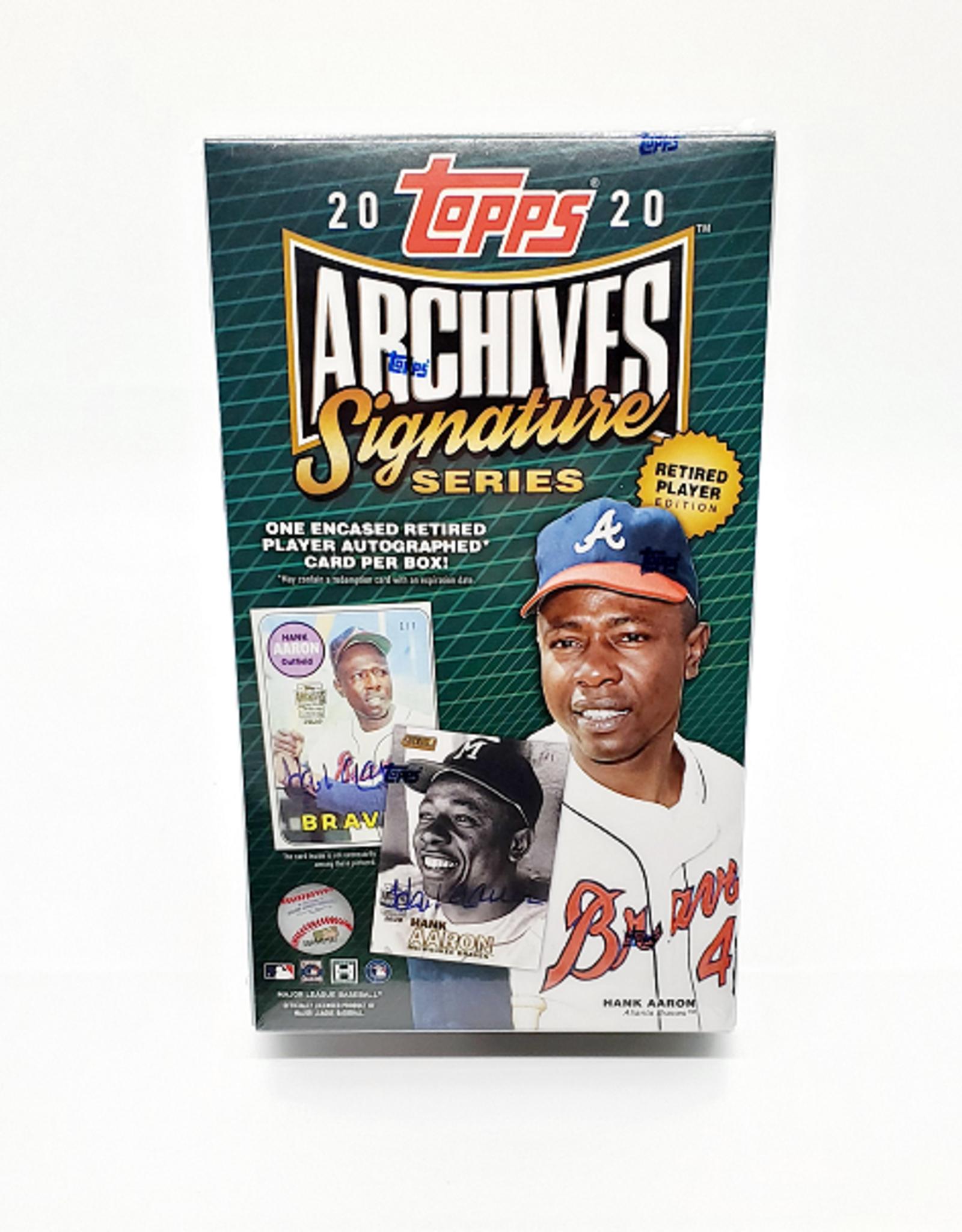Topps 2020 Topps Archives Signature Series Baseball Retired Edition Hobby