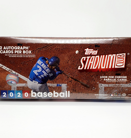 Topps 2020 Topps Stadium Club Baseball Hobby Box