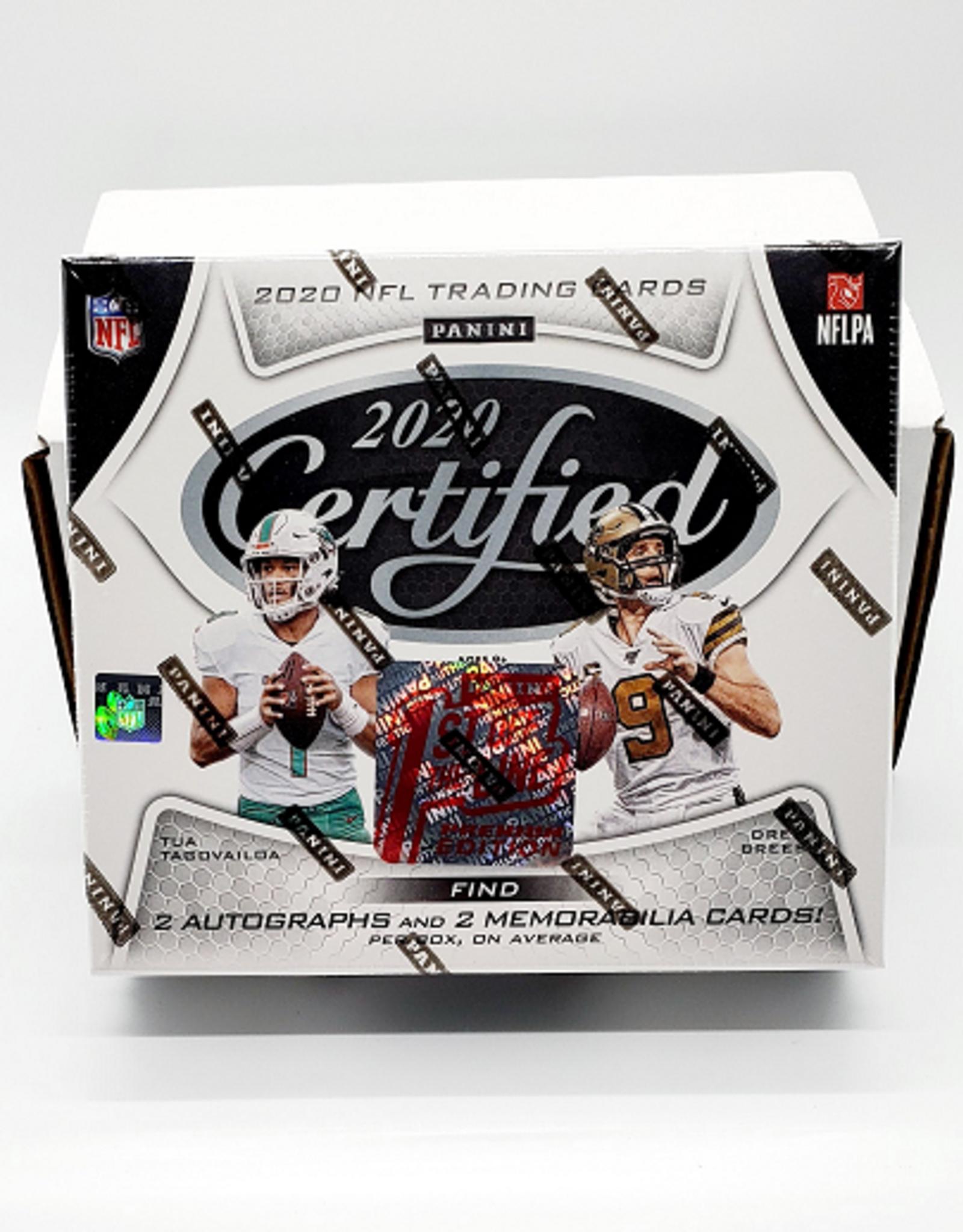 Panini America 2020 Panini Certified Football FOTL Hobby Box