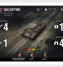 Battlefront Miniatures Ltd World of Tanks Expansion - British (Valentine)